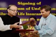 Finance Minister Arun Jaitley and Union Railway Minister Suresh Prabhu