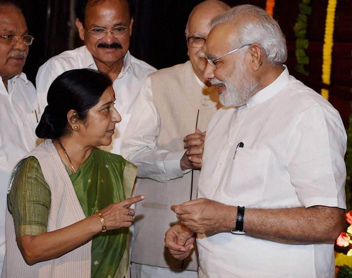 Prime Minister, Narendra Modi, talks, External Affairs Minister, Sushma Swaraj, paying, tributes, Lokmanya Bal Gangadhar Tilak, birth anniversary, Parliament, New Delhi