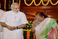 Prime Minister Narendra Modi with Lok Sabha Speaker Sumitra Mahajan after paying tributes to Lokmanya Bal Gangadhar Tilak