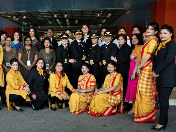 Air India, Women's Day, All Women Crew, Air India news, Air India flight, India Aviation, Air India, Womens Day