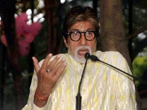 Amitabh Bachchan speaks during a press conference on his 74th birthday in Mumbai
