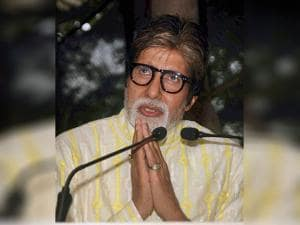 Amitabh Bachchan speaks during a_press conference on his 74th birthday in Mumbai