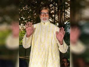 Amitabh Bachchan speaks during_a press conference on his 74th birthday in Mumbai