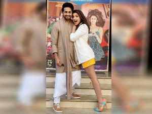 Ayushmann Khurrana and Parineeti Chopra during  'Meri pyaari Bindu'