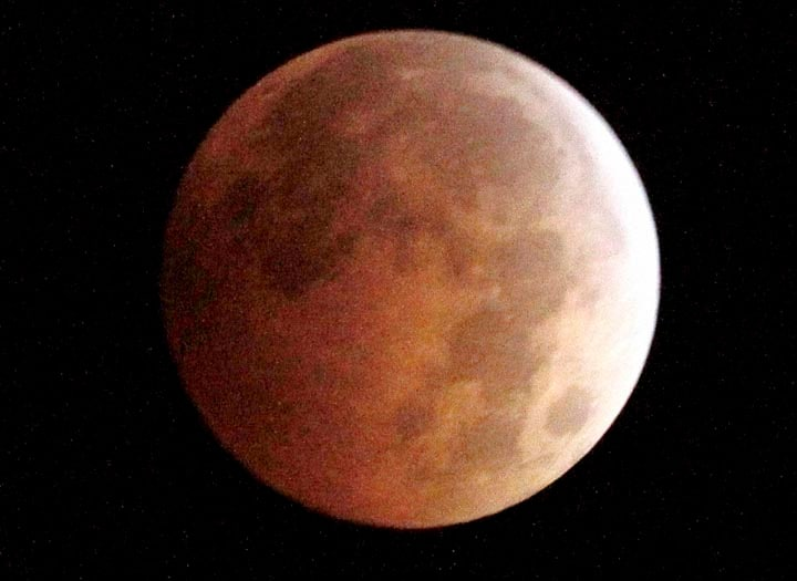 The Blood Moon, created, full moon, passing, shadow, earth, total lunar eclipse, Monterey Park