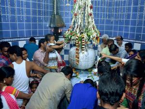 Devotees praying at Sukreswar temple on the occasion of Mahashivratri in Guwahati