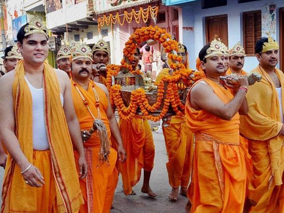 Mahavir Jayanti, Jain community, Lord, Jain community, Lord, Mirzapur, Uttar Pradesh, Shobha Yatra