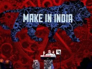 Prime Minister Narendra Modi addresses during_the inauguration of the Make in India Week in Mumbai