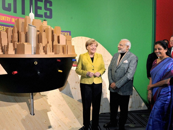 Prime Minister of India, Narendra Mod, German Chancellor, Angela Merkel, Germany, Make in India, Modi