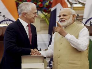 Modi, Turnbull hang out in Delhi