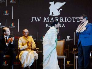 West Bengal Chief Minister Mamata Banerjee at the inauguration of JW Marriot's hotel