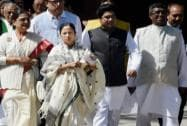 Mamata Banerjee along with TMC MP's come out after meeting Prime Minister Narendra Modi