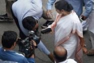 West Bengal Chief Minister Mamata Banerjee  during a visit to Parliament house