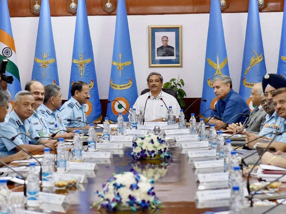 Defence Minister of India, Manohar Parrikar, Air Chief, Arup Raha, Air Force Commanders Conference