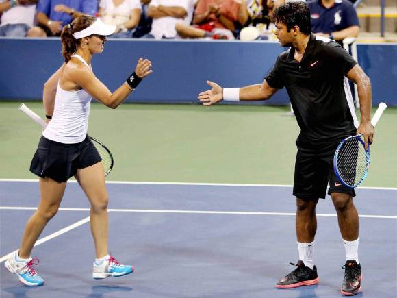 US Open final, Leander Paes, Martina Hingis, US Open 2015, Mixed Doubles Final, Yung-Jan Chan, Rohan Bopanna, New York