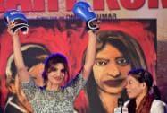 Bollywood actress Priyanka Chopra with World Champion Boxer MC Mary Kom