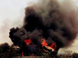 A  massive fire broke out at Biomax Fuels Limited (BFL), a bio-diesel manufacturing unit at Visakhapatnam Special Economic Zone (VSEZ), Duvvada area in Visakhapatnam