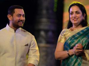 Aamir Khan and Rashmi Uddhav Thakeray  during the inauguration of a cultural  program during the Make In India week in Mumbai