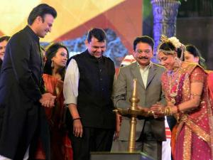 Maharashtra CM Devendra Fadanvis and Governor C Vidhyasagar Rao during the inauguration of  a cultural  program during the Make In India week in Mumbai 00