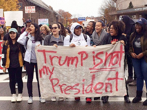 Protest against Donald Trump, Protest, Donald Trump, President elect, 45th President