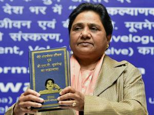 Bahujan Samaj Party (BSP) supremo Mayawati releasing a book A Travelogue of my Struggle-ridden Life and BSP Movement on her 61st birthday in Lucknow