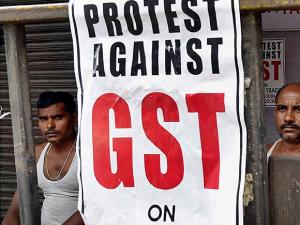 Merchants and Shopkeepers protest against GST