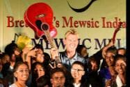 Australian cricketer Bret Lee a program organised by foundation 'Mewsic' in Mumbai