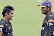 KKR captain Gautam Gambhir and Umesh Yadav