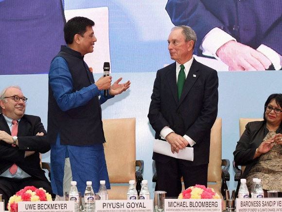 Union Minister of Power of India,  Piyush Goyal, Michael Bloomberg, RE- Invest, New York