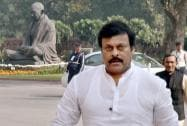 Congress MP Chiranjeevi  at Parliament House in New Delhi