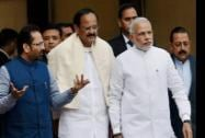 Prime Minister Narendra Modi arrives to address the media on the the first day of the winter session of Parliament