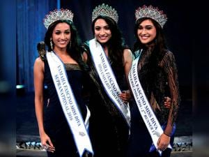 Srinidhi Shetty, Miss Diva Supranational 2016, Roshmitha Harimurthy, Miss Diva Universe India 2016 and Aarshna Buragohain, Miss Diva Second runner-up