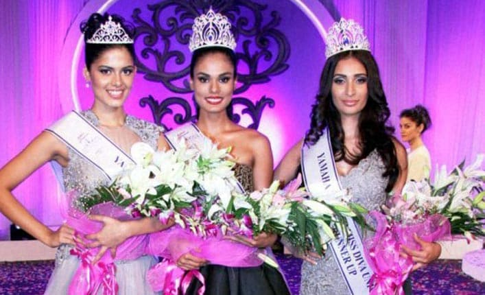 Asha Bhat, Miss Diva, Universe, 2014, 2nd runner up, Noyonita Lodh, Miss Diva, Universe,  2014 winner, Alankrita Sahai, Miss Diva, Universe, 2014, 1st runner up