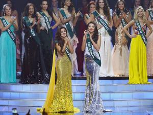 Katherine Espin of Ecuador reacts shortly after being proclaimed Miss Earth 2016