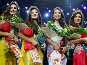 Winners for the Miss Earth 2016 pose for photographers