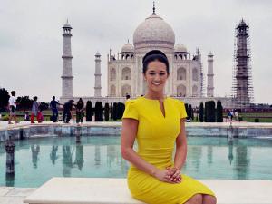Jaime Lee Faulkner Miss Universe Great Britain 2016 at Taj Mahal in Agra
