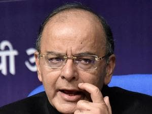 Finance Minister Arun Jaitley addresses a Post-Budget press conference