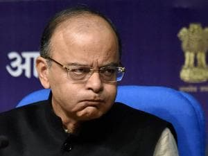 Finance Minister Arun Jaitley during a Post-Budget press conference in New Delhi