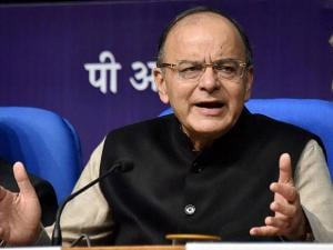 Union Finance Minister Arun Jaitley addresses a Post-Budget press conference in New Delhi
