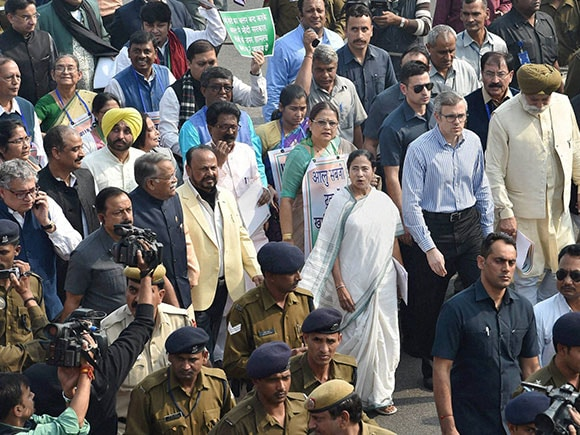 Mamta Banerjee, demonetisation issue, protest, Member of Parliament, MP