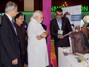 Prime Minister Narendra Modi during the 'Global Call to Action Summit 2015