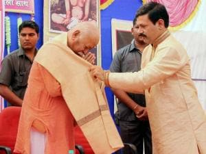 RSS Chief Mohan Bhagwat being felicitated during the Matrushakti Award 2016 function in Nagpur