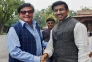 Shatrughan Sinha and MoS for I&B Ministry Rajyavardhan Singh Rathore