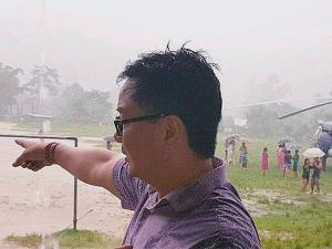 Union minister Kiren Rijiju had a miraculous escape