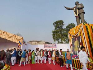 MPs pay tributes to Bhim Rao Ambedkar on the occasion of  'Mahaparinirvan Diwas'