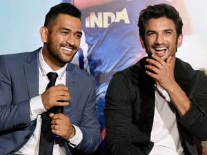 Cricketer MS Dhoni and actor Sushant Singh