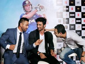 MS Dhoni and actor Sushant Singh along with director Neeraj Pandey