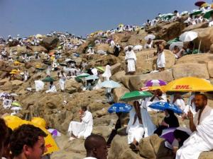 Haj pilgrims from all over the world to Arafat