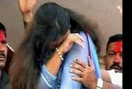 BJP candidate Pankaja Munde gets emotional as she celebrates her victory with party workers