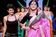Actor Sunil Grover dressed as his famous character 'Guthhi' walks the ramp